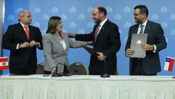 La Haya: Perú y Chile coordinan acciones para ejecutar fallo tras reunión 2+2. (EFE)
