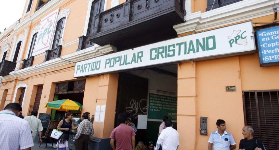 """El Partido Popular Cristiano invocó a las fuerzas políticas a """"ponerse por encima de casos individuales"""". (Foto: Andina)"""