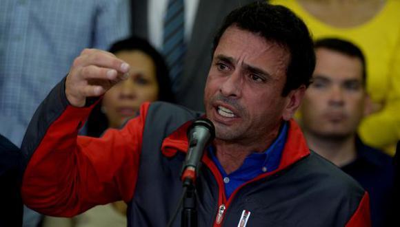 Venezuela: Capriles dice que no se ha iniciado diálogo y reitera llamado a marcha. (AFP)