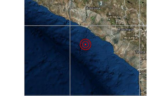 Un sismo de magnitud 3,9 se registró en la provincia de Islay, en Arequipa, la noche del martes a las 19:01 horas. (Foto: IGP)