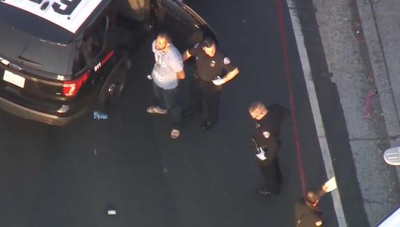 Policía de California detuvo a un hombre de 33 años implicado en los hechos. (Captura de pantala)