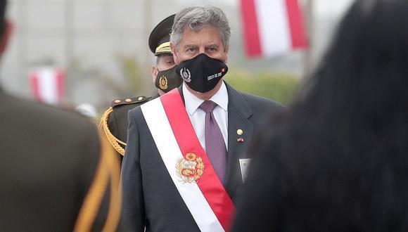El presidente Francisco Sagasti anunció la publicación de un decreto que abordará la falta de oxígeno medicinal (Presidencia).