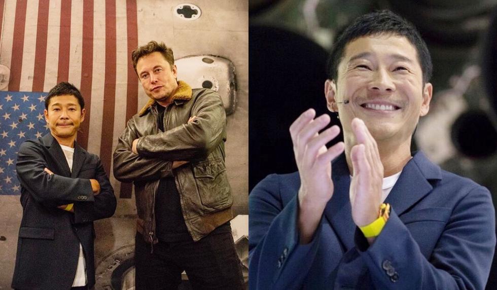 Yusaku Maezawa y Elon Musk ahora son socios y juntos planean orbitar la Luna el 2023. (Foto:  @yusaku2020)