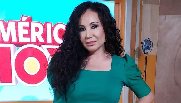 """Janet Barboza se defendió de las críticas por su regreso con """"América Hoy"""". (Foto: América TV)"""