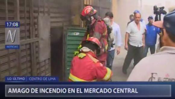 Amago de incendio en Mercado Central (Canal N)