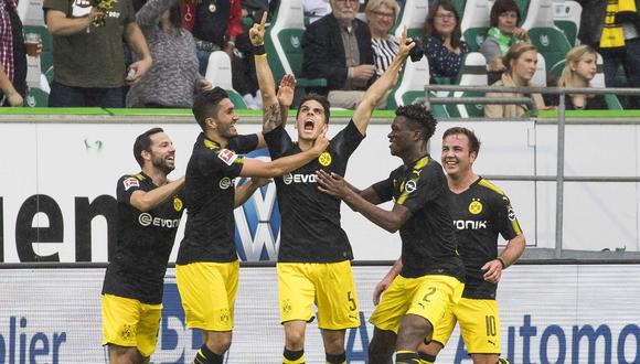 Borussia Dortmund goleó 3-0 a Wolfsburgo en la jornada de estreno de la Bundesliga. (AFP)