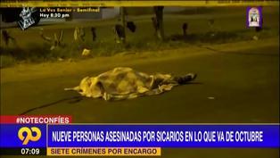 Delincuencia en Lima: Nueve personas asesinadas en lo que va de octubre