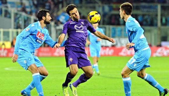 Fiorentina de Juan Vargas se enfrentará al Nápoli por la Copa de Italia. (EFE)
