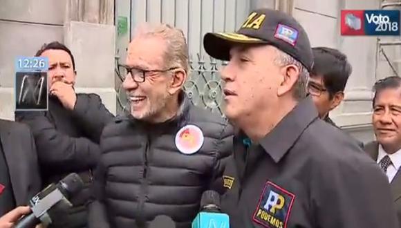 """""""Yo ya lo dije 20 veces, no voy a debatir en el horario del Jurado Nacional de Elecciones, ya lo dije"""", remarcó Belmont Cassinelli (Foto: Canal N)"""