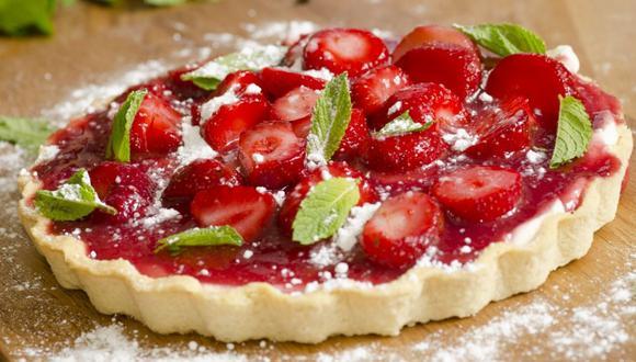 Pie de fresas casero (Foto: Difusión)