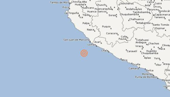 El temblor se sintió a las 7:27 a.m. (IGP)