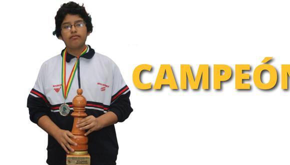 José Martínez el título de Gran Maestro. (Andina)