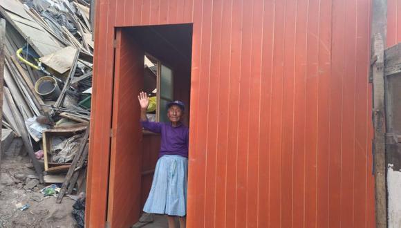 Cinco familias en extrema pobreza podrán vivir cómodamente en sus nuevas casas prefabricadas. (Foto: Municipalidad de La Victoria)
