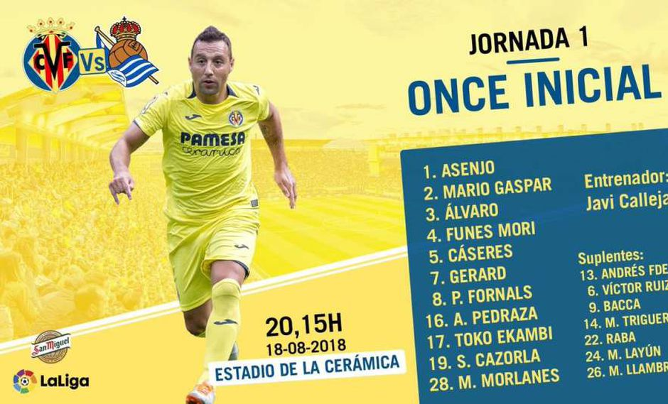 Santi Cazorla arranca de titular en un juego oficial. (Foto: Villarreal).