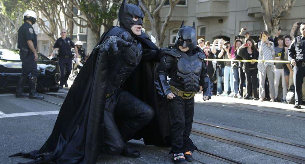 Miles Scott es un niño de cinco años con leucemia que siempre quiso convertirse en Batman.(AP)