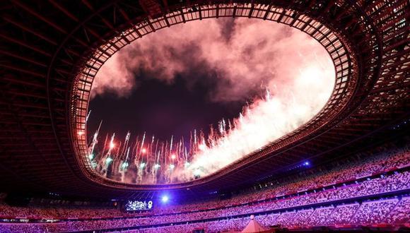Fuegos artificiales y espectáculo en la inauguración de Tokio 2020. (Foto: Agencias)