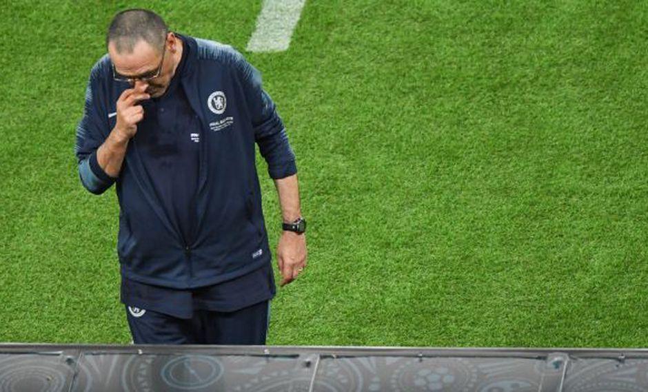 Maurizio Sarri dirigió a Chelsea en la temporada 2018-19. (Foto: AFP)