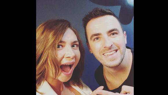 Daniela Luján y Martín Ricca se volvieron a juntar en una cabinade radio. (Instagram @lalujans)