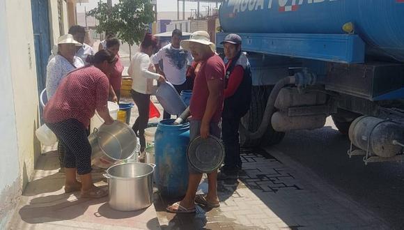 Familias de 25 asociaciones de vivienda se vieron afectadas. EPS Tacna