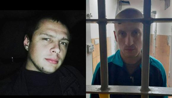 Dos policías ucranianos obligaron a una mujer a usar una máscara antigás para luego violarla y torturarla. (Facebook)