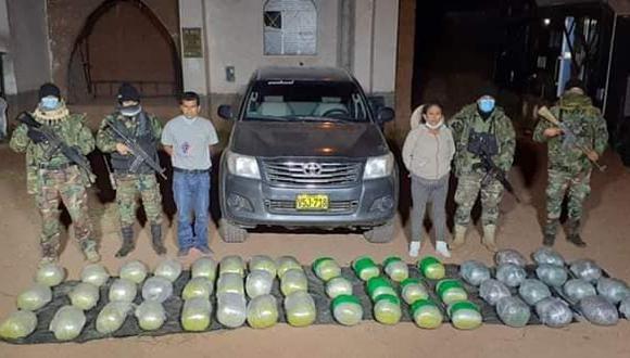 Ayacucho: los policías intervinieron la unidad en la carretera Chilcas, en Huamanga.
