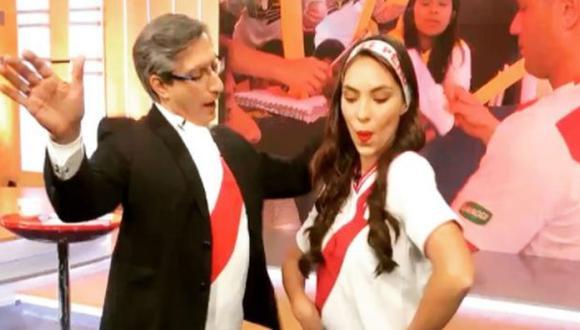 Natalie Vértiz y Federico Salazar bailaron juntos para alentar a la Selección Peruana (Instagram)