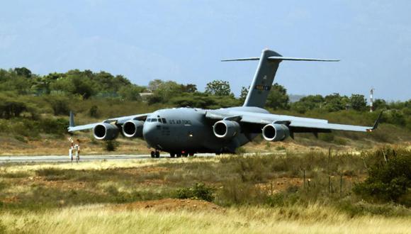 Avión militar de Estados Unidos para transportar cargas pesadas. (Foto referencial: EFE)