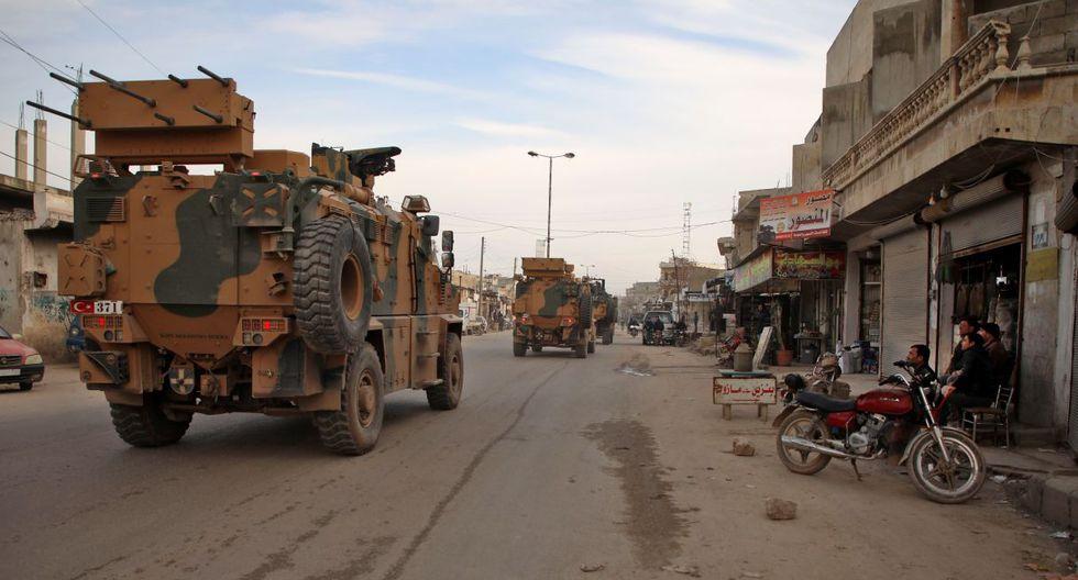 Vehículos militares de Turquía está realizando una caravana al sur de la provincia de Idlib. (AFP).