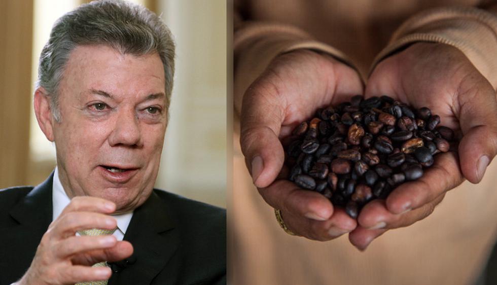 """Juan Manuel Santos aseguró que el desarme hace un año de las FARC ayudó a que el sector cafetero se conserve como """"motor"""" del desarrollo rural del país. (Foto: EFE / Getty Images)"""