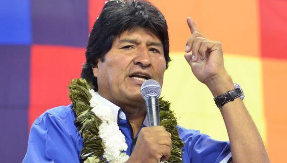 Evo Morales se muestra optimista con proyecciones. (EFE)