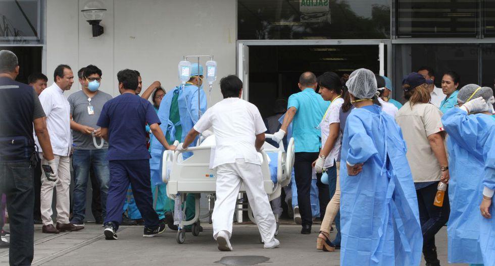Las personas que resultaron heridas en incendio en Villa El Salvador fueron atendidas en hospitales del Ministerio de Salud y EsSalud. (GEC)