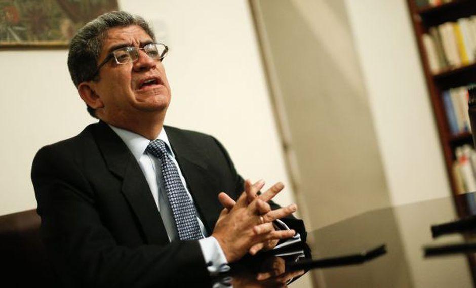 "José Luis Sardón: ""Falta que se ratifiquen o rectifiquen en el fallo"". (Geraldo Caso/Perú21)"