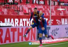 Barcelona vs. Sevilla: Lionel Messi se las ingenió para ingresar al área y anotar el 2-0 | VIDEO