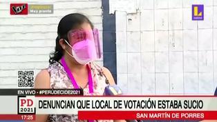 SMP: ciudadanos denuncian falta de limpieza en centro de votación