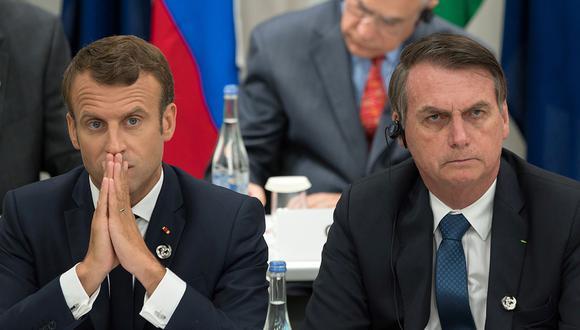 Jair Bolsonaro duda de las intenciones de Emmanuel Macron y el anuncio de ayuda para la Amazonía. (Foto: AFP)