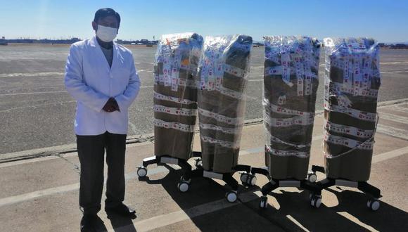 Puno: Diresa Puno recibió del Minsa cinco ventiladores volumétricos para reforxzar atención de pacientes COVID-19. (foto Diresa Puno)