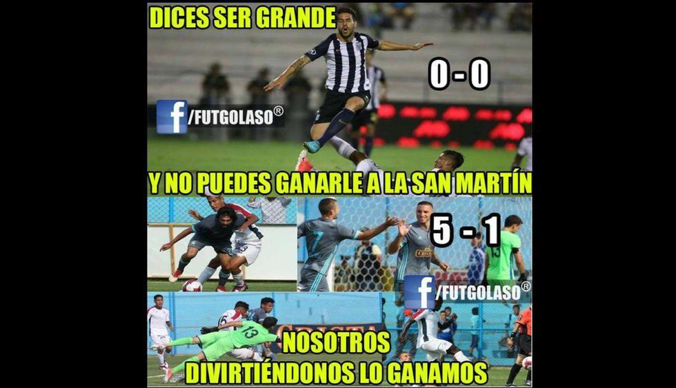 Memes del Alianza Lima vs. Universidad San Martín.