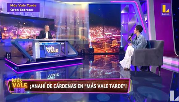 Anahí de Cárdenas fue la madrina del nuevo programa de Mathías Brivio. (Foto: Captura de video)