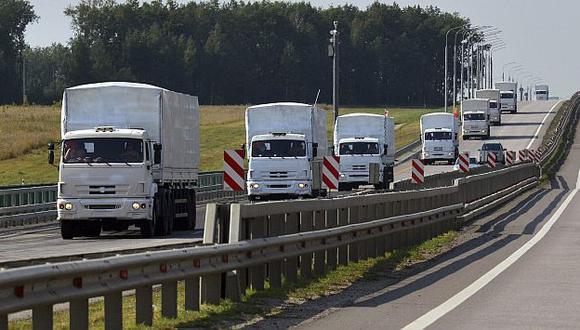 Rusia envió convoy de 289 camiones con ayuda humanitaria a Ucrania. (Reuters)