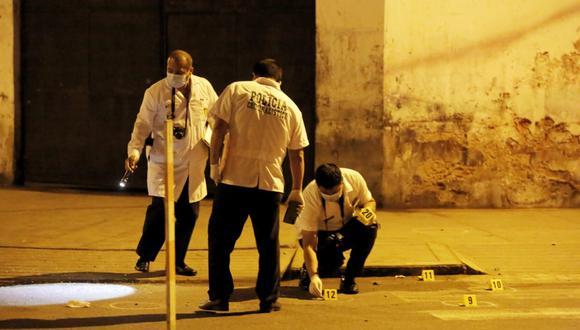 La balacera ocurrió en el jirón Zarumilla, cerca de la avenida Guardia Chalaca. (Foto: César Grados/@photo.gec)