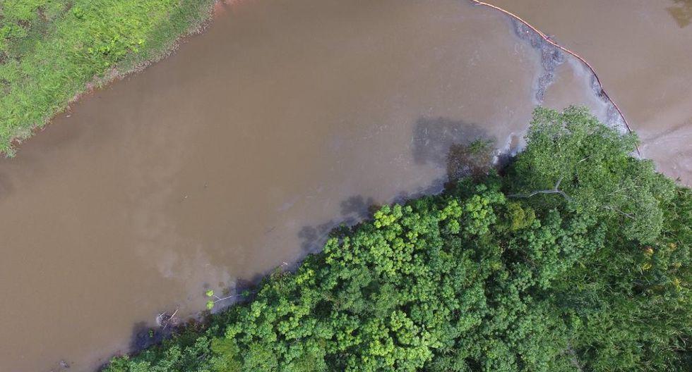 Párroco de San Lorenzo Lamenta que el derrame de petróleo esté afectando al río Marañón (Foto: Ministerio Público)