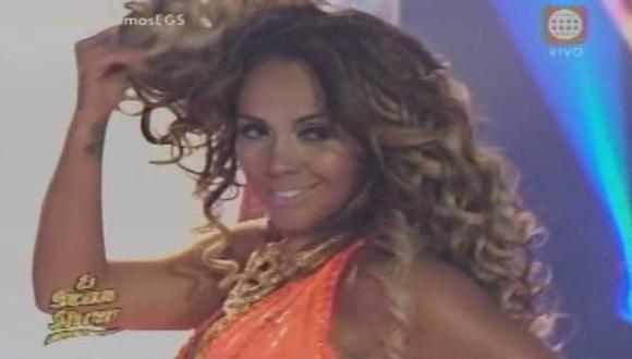 Dorita Orbegoso deslumbró con sensual baile en 'El gran show'. (América Televisión)