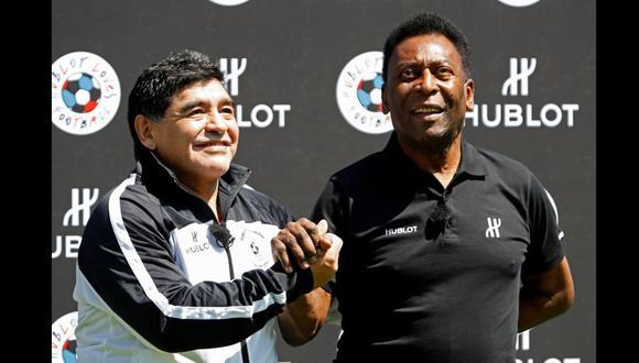 Pelé escribió una emotiva carta a Diego Maradona, a una semana del fallecimiento del argentino. (Foto: Reuters)
