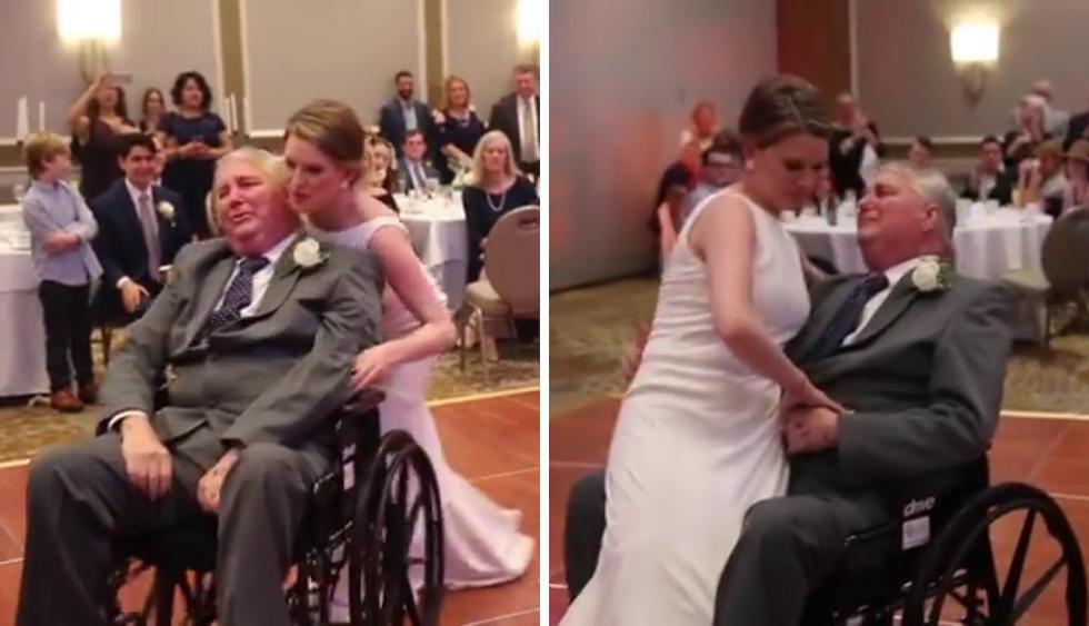 Una novia y su padre protagonizaron un emotivo momento en el día de su boda. (Foto: Blue Room Photography en Facebook)