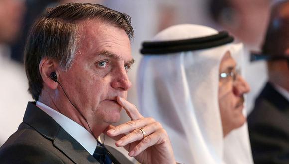 El presidente brasileño, Jair Bolsonaro, habló de la elección de Alberto Fernández en Argentina desde Emiratos Árabes Unidos. (Foto: AFP)