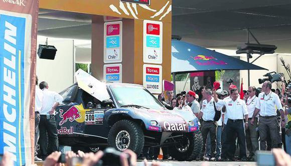 Dio la largada. Humala se hizo presente en Agua Dulce y también vivió la fiesta del Dakar. (Luis Gonzáles)
