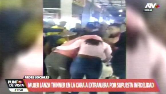 El ataque ocurrió en los exteriores de una galería de Las Malvinas. (Foto: ATV+)