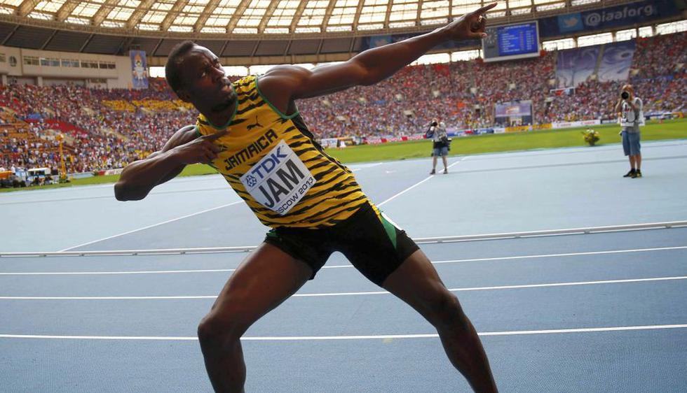 Usain Bolt. El gigante de 1.95 metros ratificó su condición de rey de la velocidad con un triplete en el Mundial de Moscú. Venció en los 100, 200 y en el relevo de 4x100 metros con el equipo de Jamaica. (Reuters)