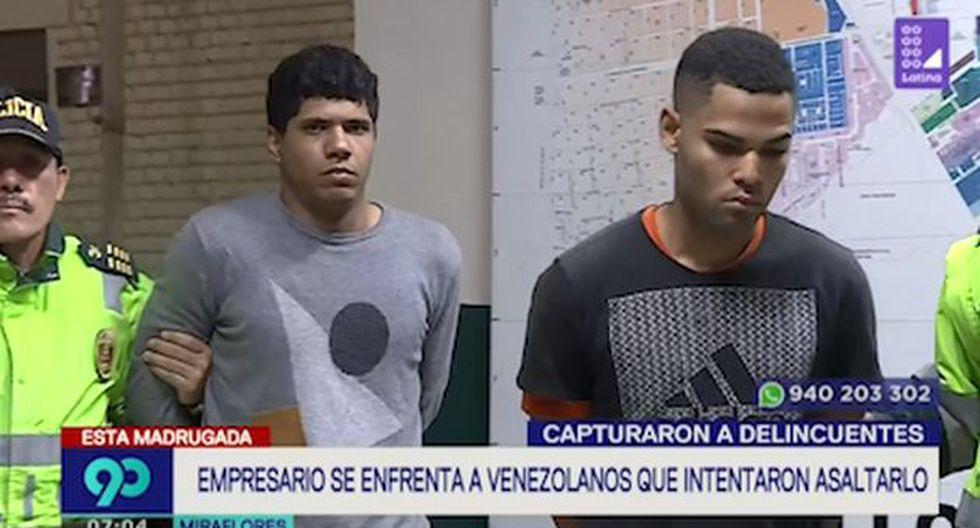 Conductor persiguió a delincuentes que le robaron en el óvalo Higuereta y logró atraparlos (Captura: Latina)