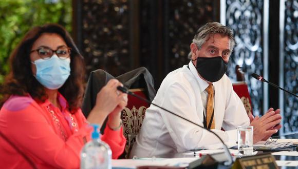 El Consejo de Ministros defendió al presidente Francisco Sagasti de las acusaciones de la excanciller Elizabeth Astete. (Foto: PCM)